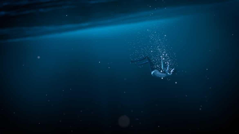mosaic: personnage sous l'eau