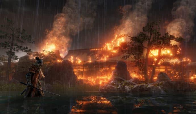 sekiro shadows die twice: maison en feu