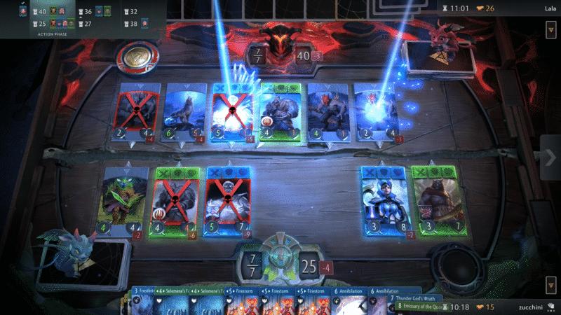 Artifact : jeu de carte en plein combat
