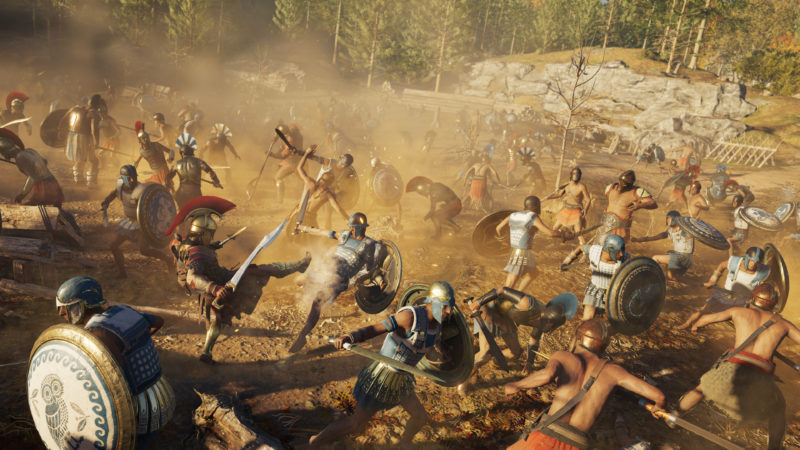 Assassin's Creed Odyssey bataille guerrier