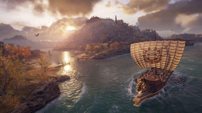 Assassin's Creed Odyssey navire mer embouchure