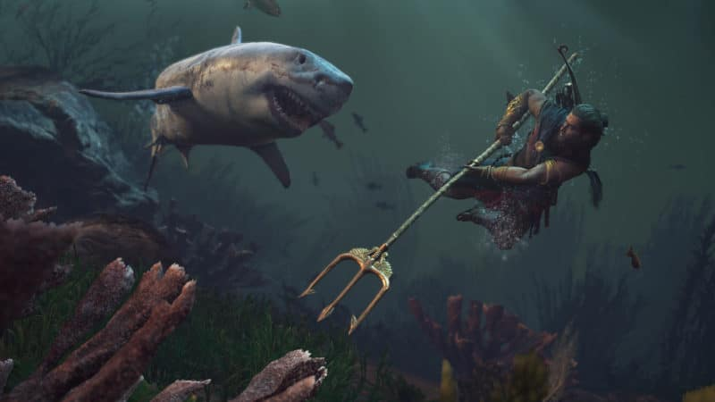 Assassin's Creed Odyssey requin trident combat