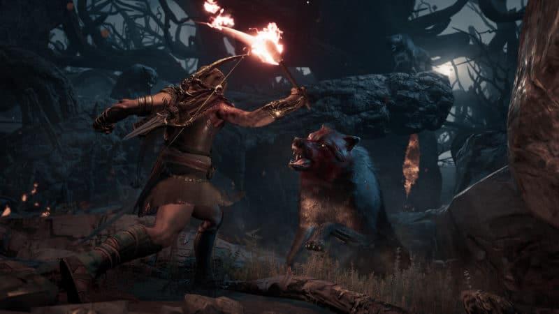 Assassin's Creed Odyssey loup garou combat nuit