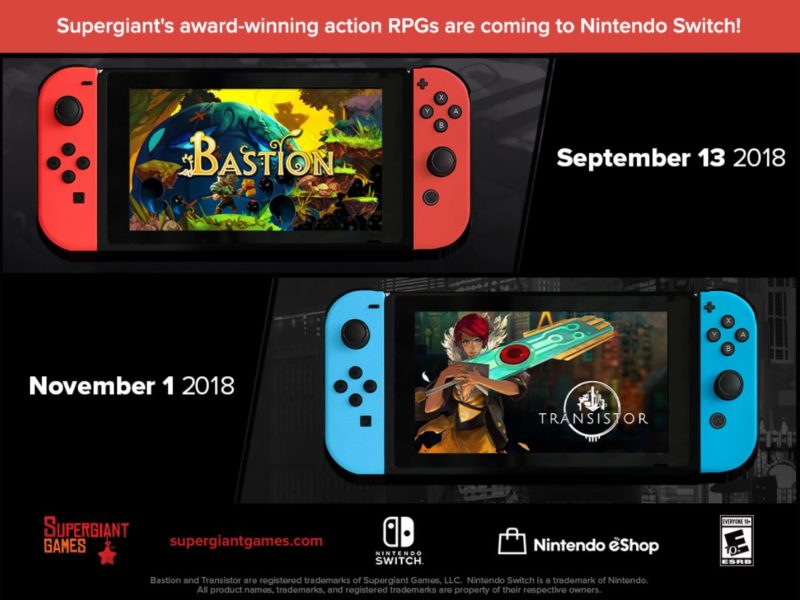 bastion/transistor - date de sortie switch