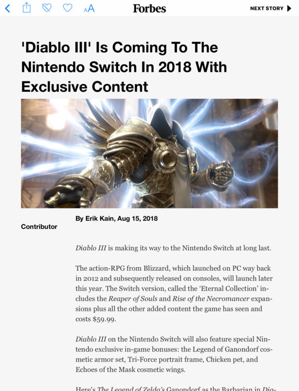 Diablo III: Eternal Collection - Forbes page 1