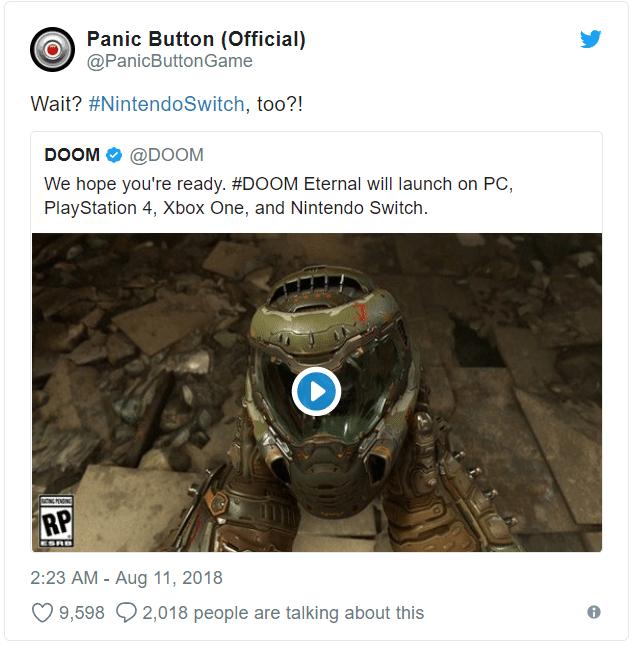Doom Eternal - Panic Button too