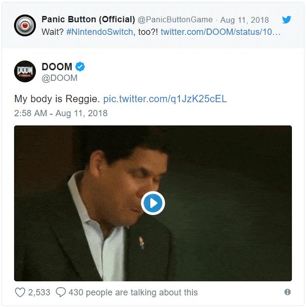 Doom Eternal - my body is Reggie