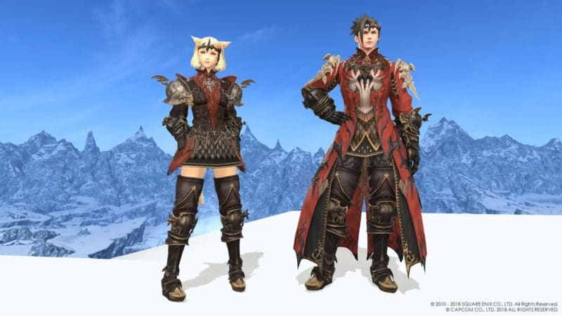 Final Fantasy XIV - armures Rathalos