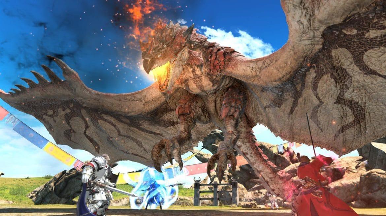 Final Fantasy XIV - combat Rathalos