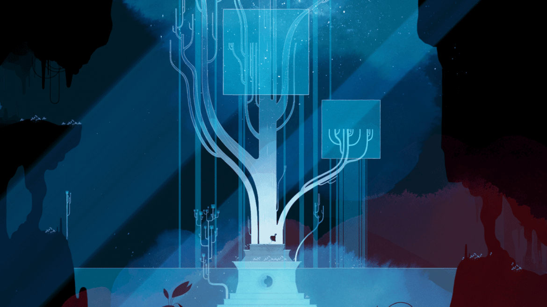 GRIS arbre bleu