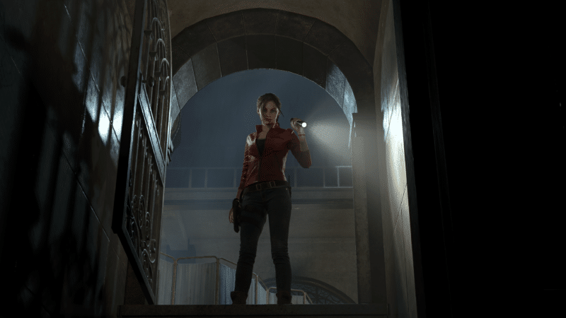 resident evil 2 claire redfield lampe torche