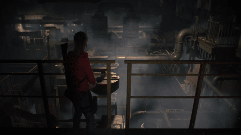 resident evil 2 claire redfield exploration