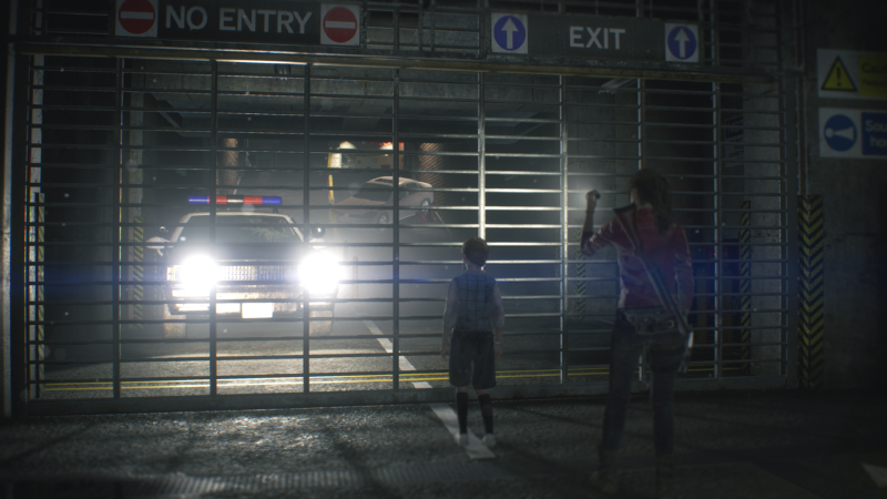resident evil 2 claire sherry parking