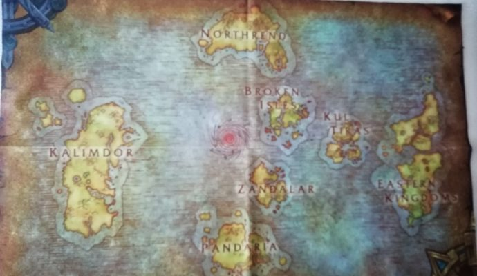 World of warcraft Battle for Azeroth Carte