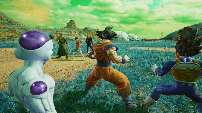 JUMP Force équipe One Piece vs équipe Dragon Ball Z