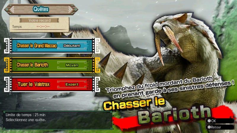 Monster Hunter Generations Ultimate - Barioth
