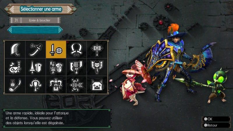 Monster Hunter Generations Ultimate - chasseur épée et bouclier