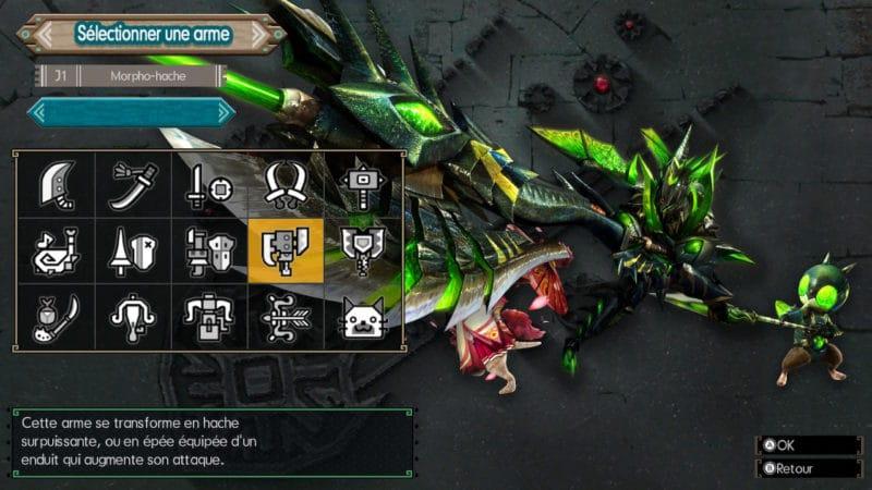 Monster Hunter Generations Ultimate - chasseur morpho-hache