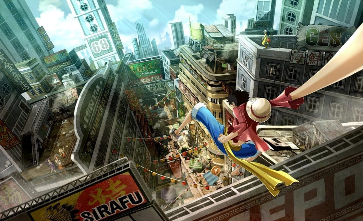 One Piece World Seeker Luffy en ville