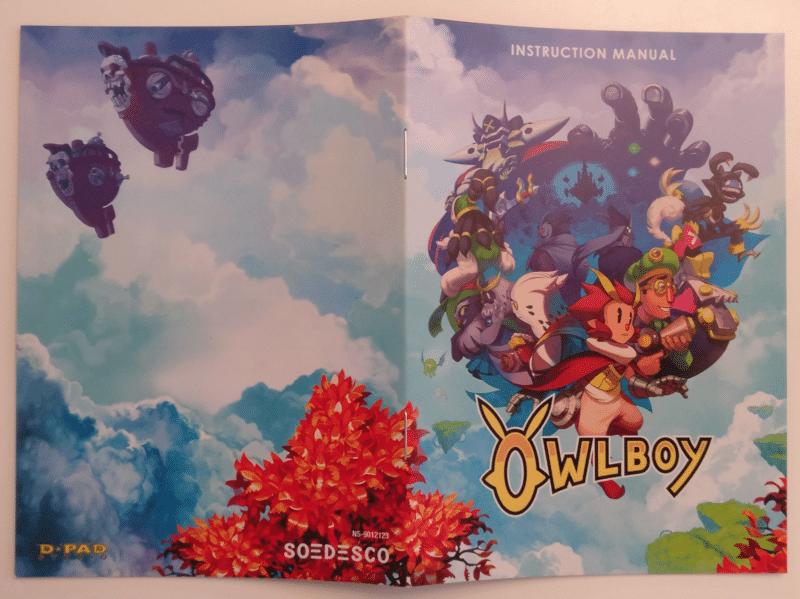 Owlboy - manuel recto et verso
