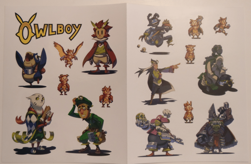 Owlboy Limited Edition - planche stickers