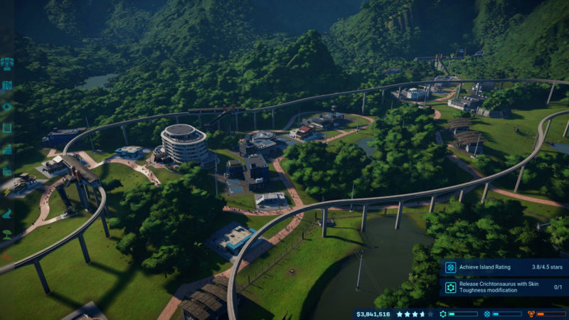 Jurassic World Evolution monorail