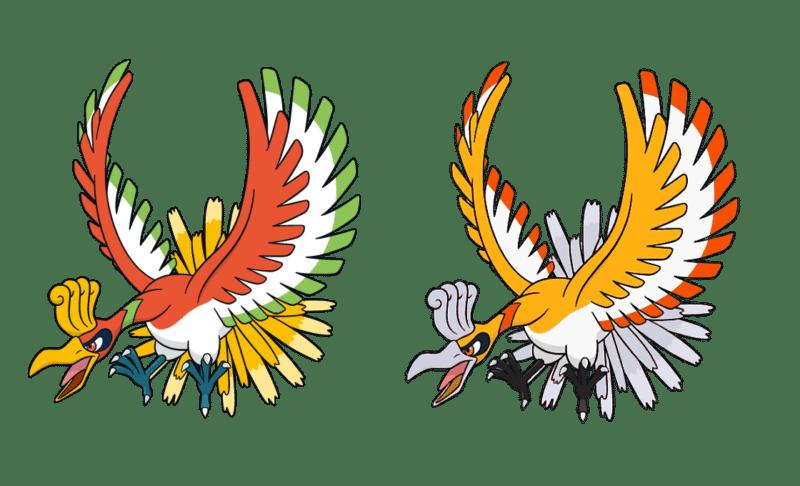 Pokémon GO - Ho-Oh dans toutes ses couleurs