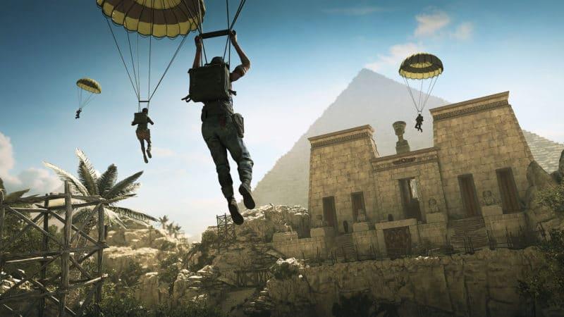 Strange Brigade parachute temple