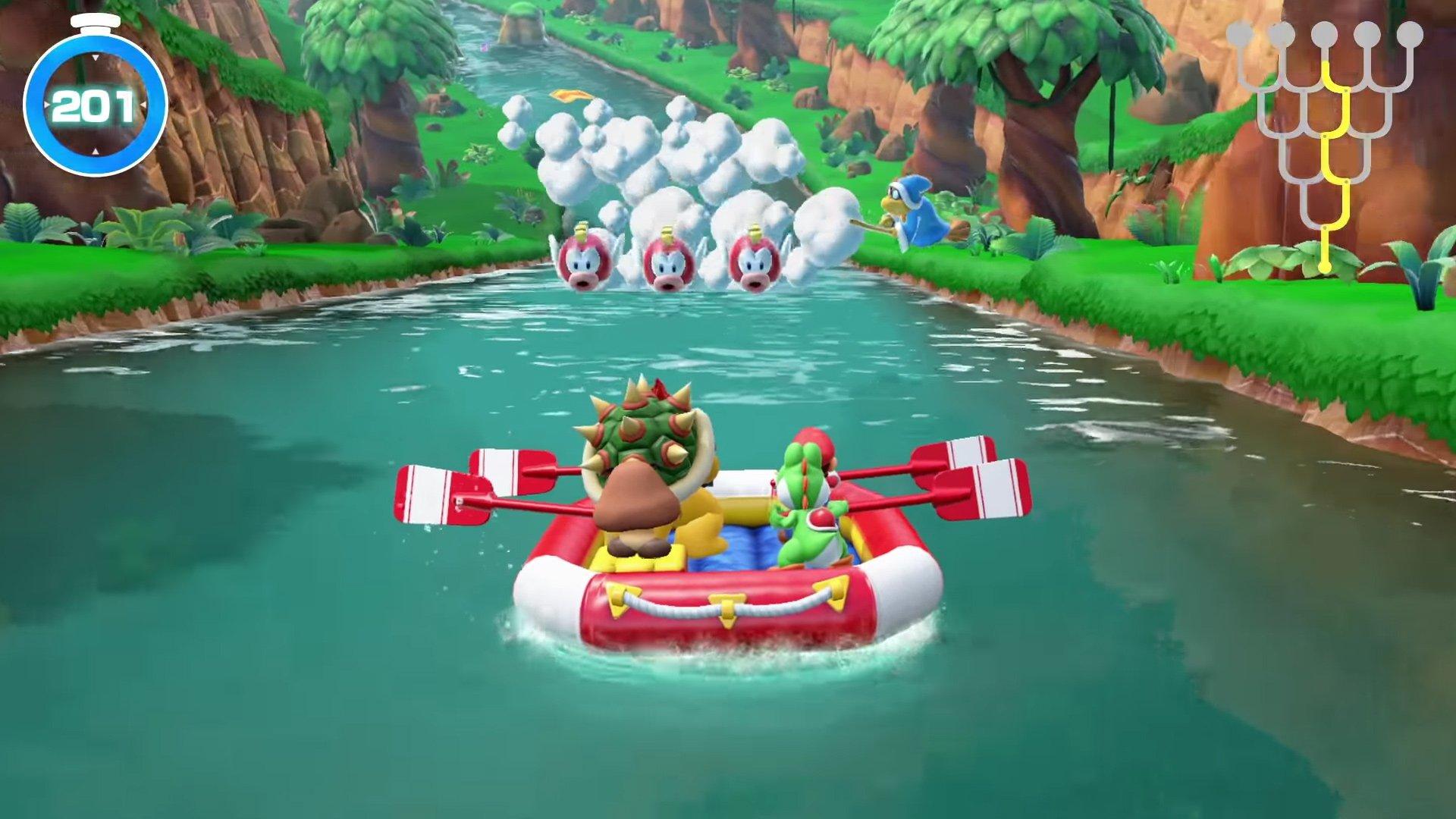 Super Mario Party - river Survival