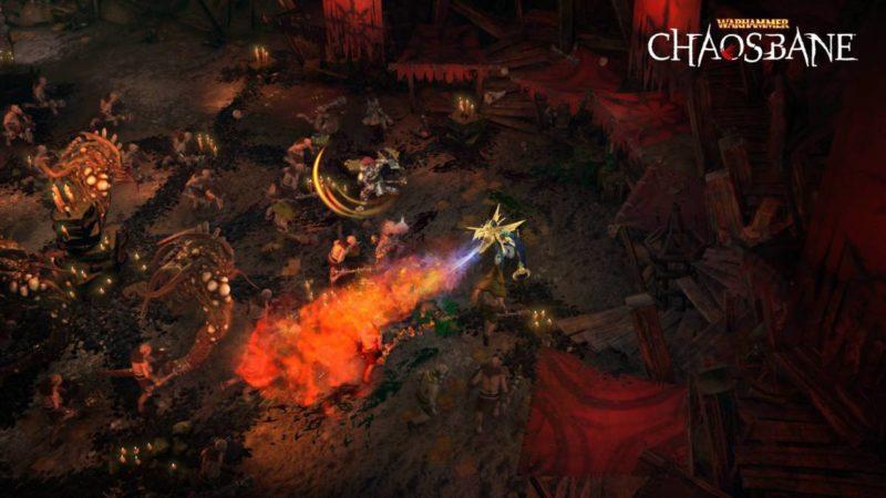 Warhammer Chaosbane magie feu caverne