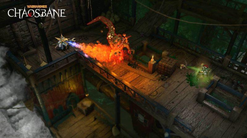 Warhammer Chaosbane magie feu combat