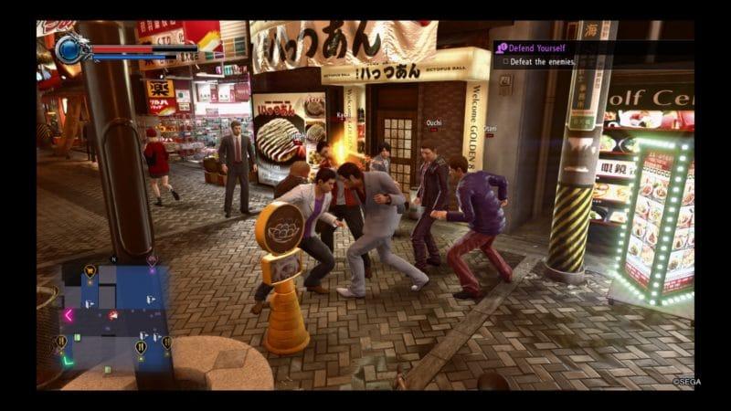 Yakuza Kiwami 2 combat