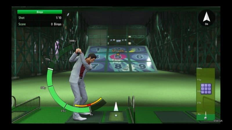 Yakuza Kiwami 2 jeu golf