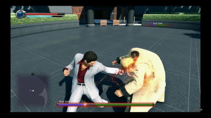 Yakuza Kiwami 2 combat entre Kiryu et Ryuji
