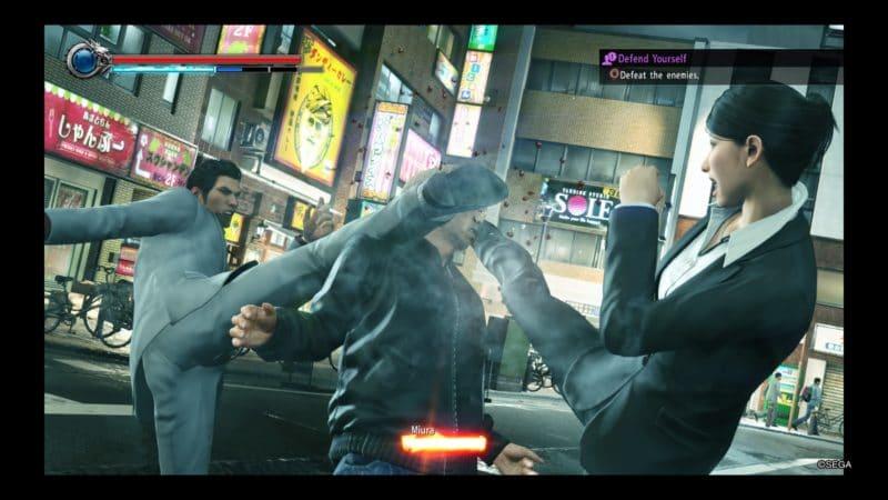 Yakuza Kiwami 2 Heat Move avec Kaoru