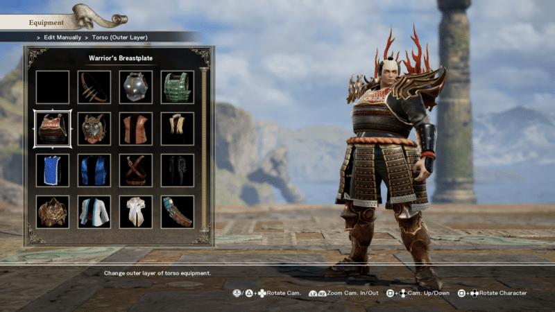 Soul Calibur VI création personnage armure