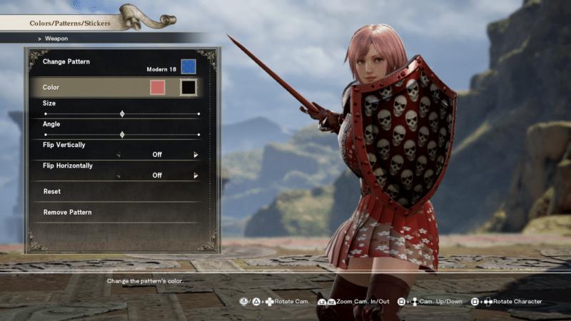 Soul Calibur VI création personnage couleur