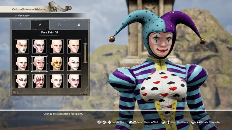 Soul Calibur VI création personnage maquillage
