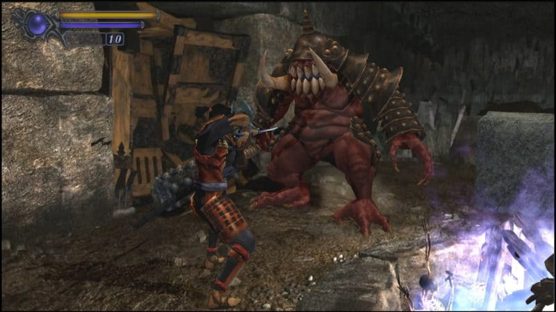 onimusha warlords hd combat boss