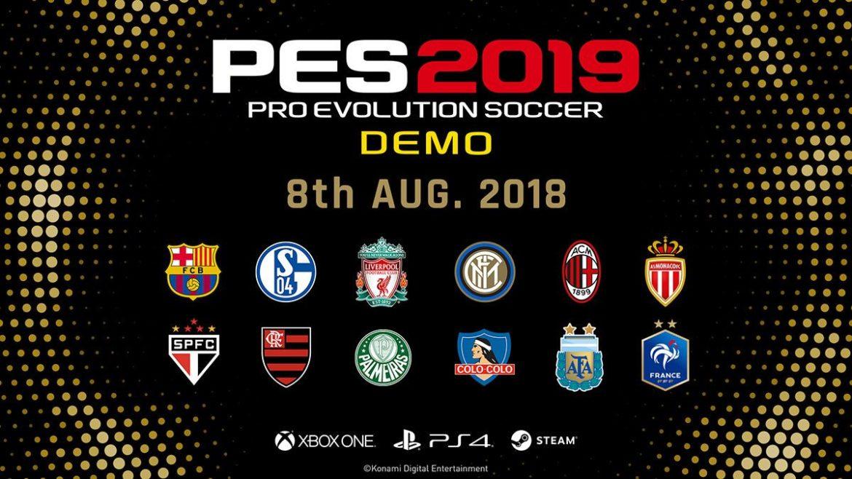 La démo de PES 2019 disponible !