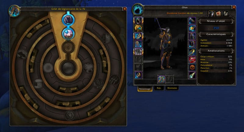 World of Warcraft: Battle for Azeroth - interface Cœur d'Azérite