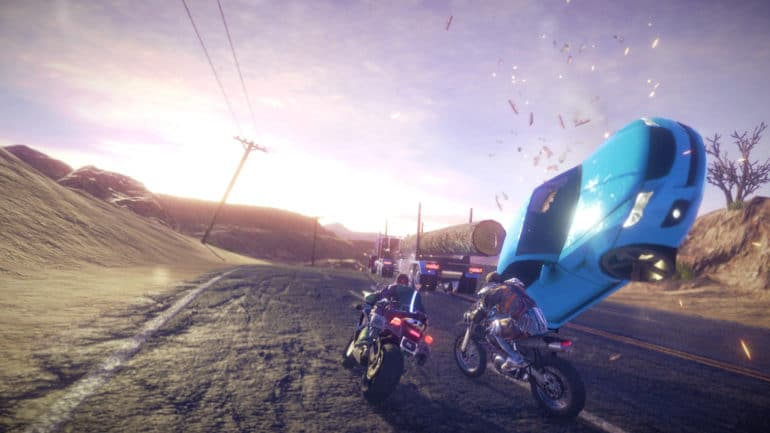 road redemption: course de motos