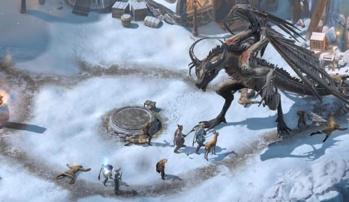 beast of winter : combat contre dragon