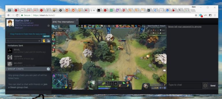 Steam.tv : streaming Dota