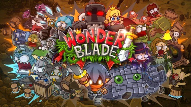 Wonder Blade logo personnages