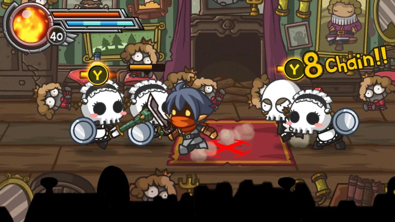 Wonder Blade combat squelettes