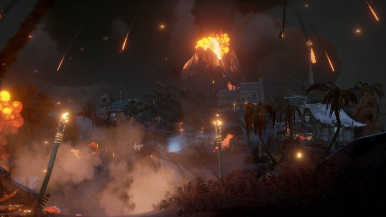 Sea of Thieves: Forsaken Shores volcan
