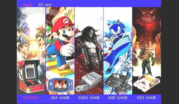 Data Frog Neo Geo GBA NES SNES MegaDrive