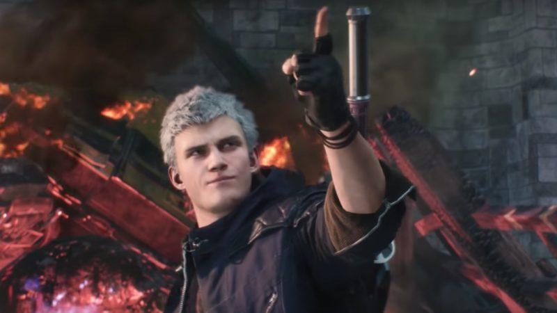 Devil May Cry 5 Nero en plein trash talk