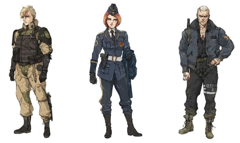Left Alive character design Yoji Shinkawa